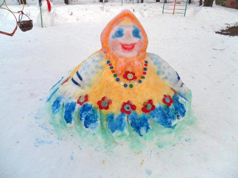 Картинка фигуры из снега своими руками